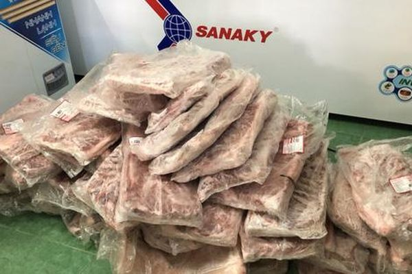 Kiên Giang: Bắt 870kg thịt heo, bò nhập lậu