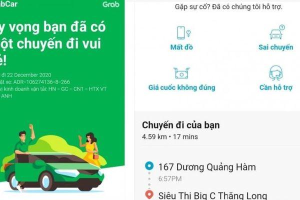 TP Hà Nội: Hành khách để quên điện thoại trên xe, lái xe Công ty TNHH Grab 'cuỗm' luôn