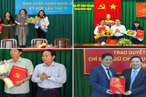 Bổ nhiệm lãnh đạo mới Hậu Giang, Lâm Đồng, Khánh Hòa