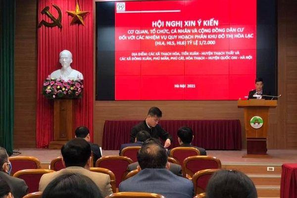 Huyện Quốc Oai: Xin ý kiến cộng đồng dân cư đối với quy hoạch phân khu đô thị Hòa Thạch