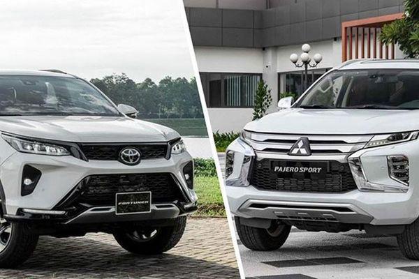 Lựa chọn Mitsubishi Pajero Sport hay Fortuner Legender bản 1 cầu?