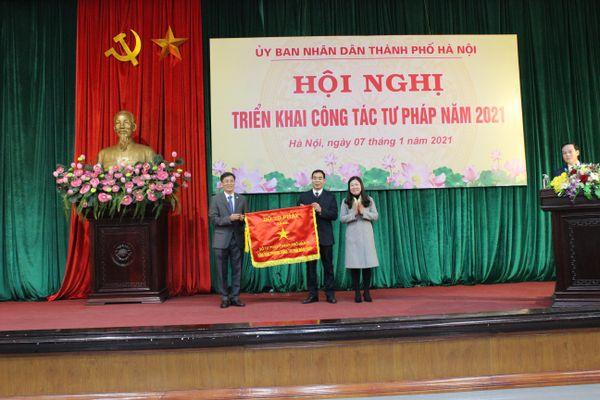 Thứ trưởng Nguyễn Khánh Ngọc dự Hội nghị triển khai công tác Tư pháp 2021 Hà Nội