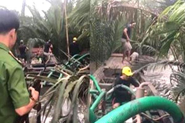 Đồng Nai: 'Cát tặc' nhấn chìm phương tiện để bỏ trốn khi bị phát hiện
