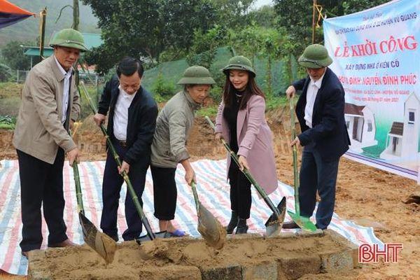 Vũ Quang xây dựng 12 nhà ở kiên cố cho người có công, hộ nghèo