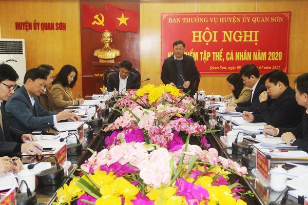 Phó Chủ tịch UBND tỉnh Nguyễn Văn Thi làm việc với Ban Thường vụ Huyện ủy Quan Sơn