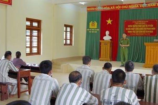 Trại tạm giam Công an tỉnh Hà Giang đẩy mạnh cải cách hành chính