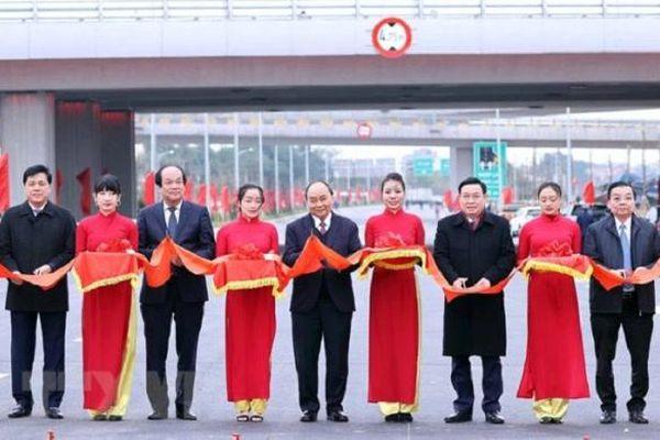 Hà Nội: Khởi công cầu Vĩnh Tuy 2, khánh thành nút giao Vành đai 3 với cao tốc Hà Nội-Hải Phòng
