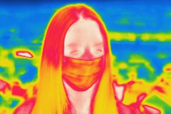 Camera ảnh nhiệt cho thấy cơ thể con người mất nhiệt như thế nào trong khí hậu lạnh giá