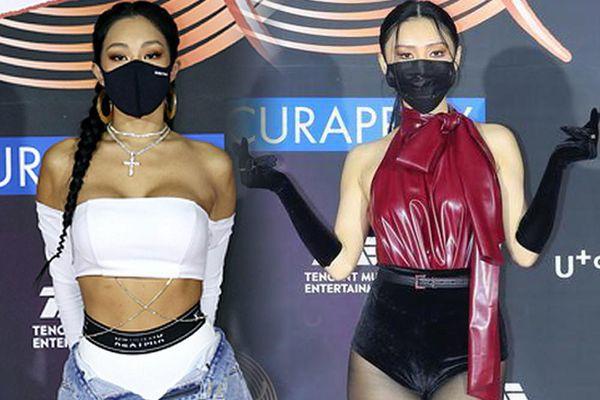 Sao Hàn diện trang phục hở bạo, khoe thân hình đẫy đà giữa thời tiết âm độ