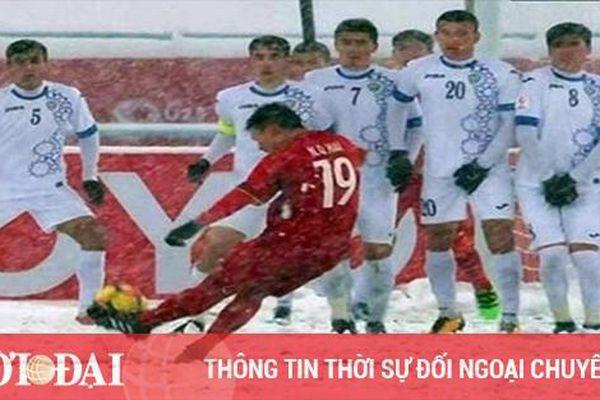 Siêu phẩm 'Cầu vồng tuyết' của Quang Hải lọt top 10 bàn thắng đẹp thế giới