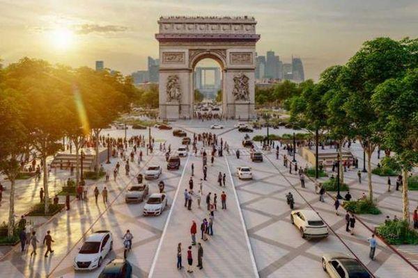 Biến đại lộ Champs-Elysees thành 'khu vườn đặc biệt'