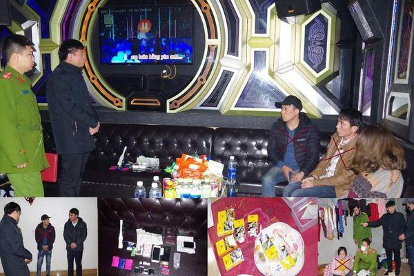 Bắt giữ 04 đối tượng tàng trữ trái phép ma túy trong quán Karaoke