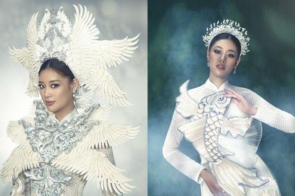 Hoa hậu Khánh Vân đẹp như công chúa bước ra từ truyện cổ tích trong bộ ảnh áo dài