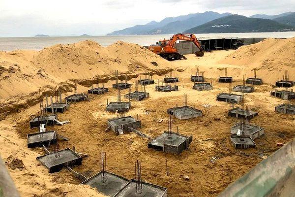 Bình Định: Đã tháo dỡ công trình không phép trên bãi biển Quy Nhơn