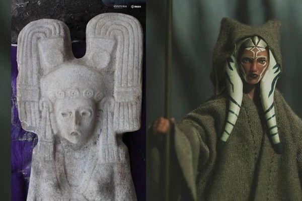 Bí ẩn bức tượng cổ điêu khắc người phụ nữ y hệt Star Wars