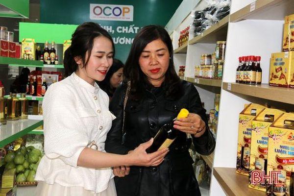 Khai trương cửa hàng đầu tiên bán sản phẩm OCOP tại thị xã Kỳ Anh