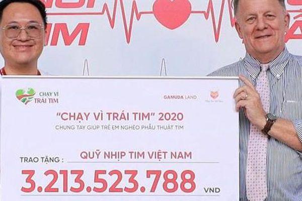 'Chạy vì trái tim 2020' quyên góp được hơn 3 tỷ đồng cho trẻ mắc bệnh tim