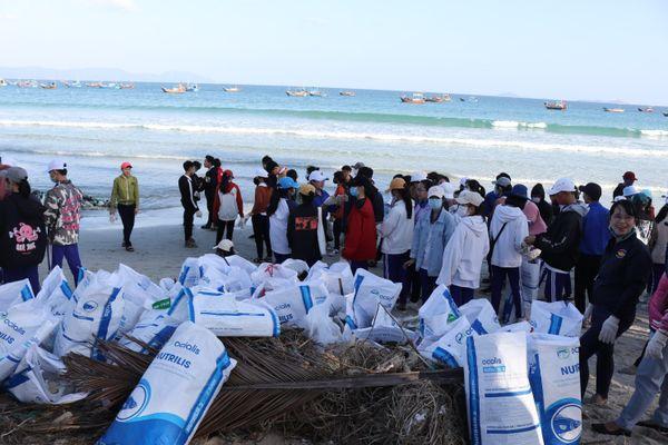Hơn 200 người tham gia 'Ngày môi trường xanh' làm sạch biển Ninh Hải