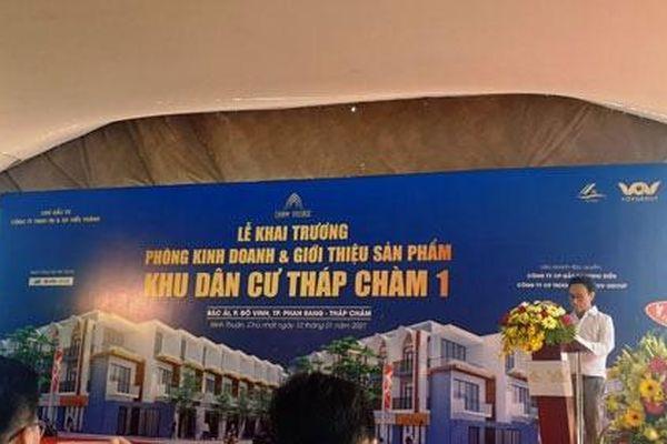 Sở Xây dựng Ninh Thuận tuýt còi dự án khu dân cư Tháp Chàm 1