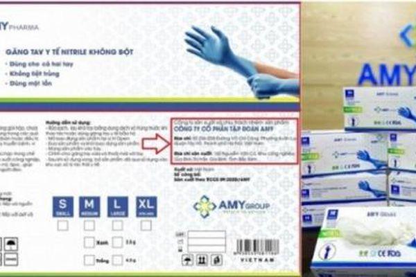Công ty CP Amy Group chưa đủ điều kiện sản xuất khẩu trang, găng tay y tế?