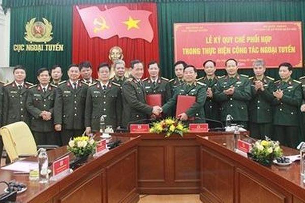 Cục Ngoại tuyến và Cục Bảo vệ an ninh Quân đội ký quy chế phối hợp