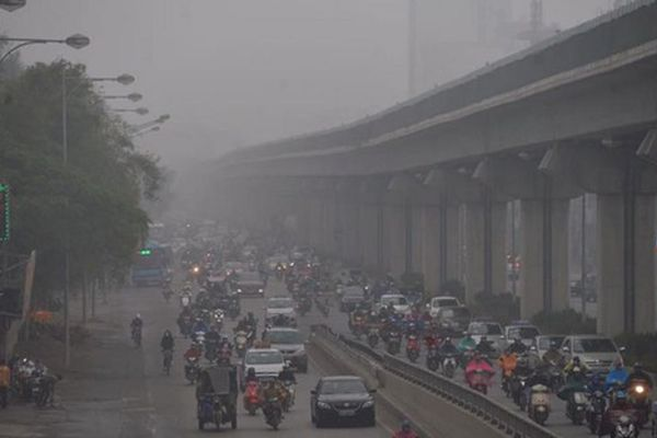 Chất lượng không khí nhiều tỉnh thành miền Bắc rất xấu
