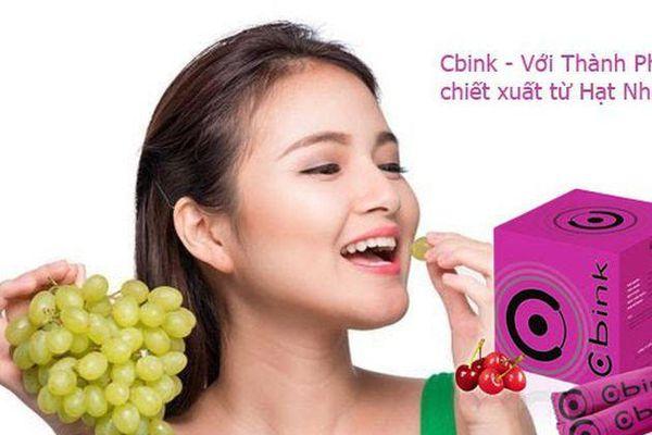 CBINK với thành phần chiết xuất từ hạt nho với công dụng giúp chống lão hóa siêu đẳng và giúp tăng vòng 1 tự nhiên