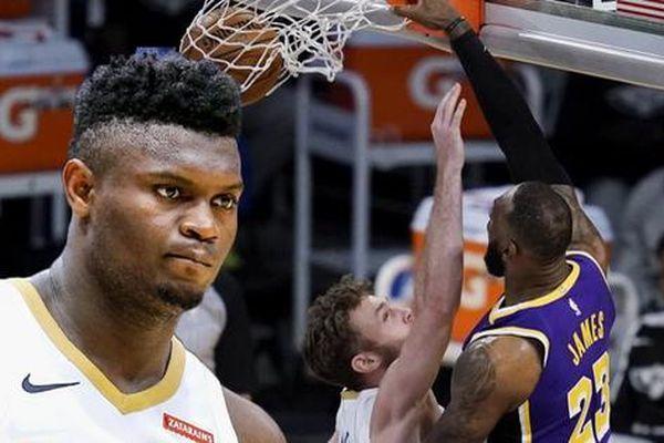 LeBron James tạo điểm nhấn trong ngày Los Angeles Lakers lội ngược dòng New Orleans Pelicans