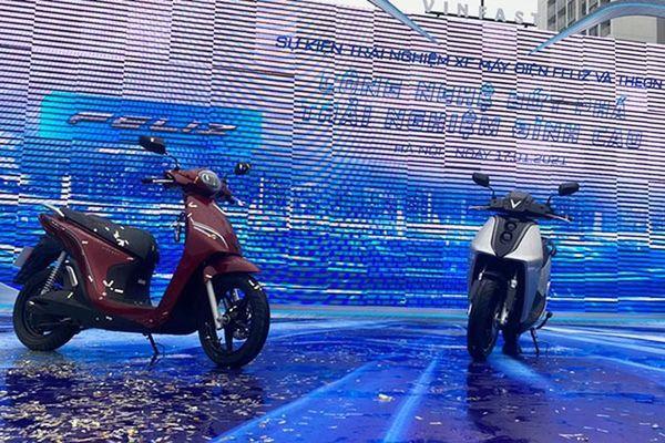 Chi tiết xe máy Vinfast Theon và Feliz 'đấu' Honda SH tại Việt Nam