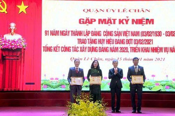 Quận Lê Chân (Hải Phòng) kỷ niệm 91 năm Ngày thành lập Đảng Cộng sản Việt Nam