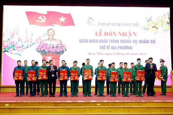 Đông Triều: Đón nhận trên 200 quân nhân hoàn thành nghĩa vụ quân sự trở về địa phương