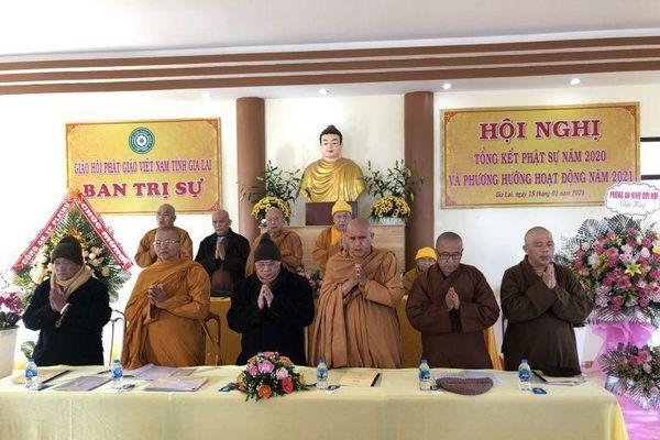 Gia Lai: Phật giáo tỉnh tổ chức hội nghị tổng kết Phật sự năm 2020