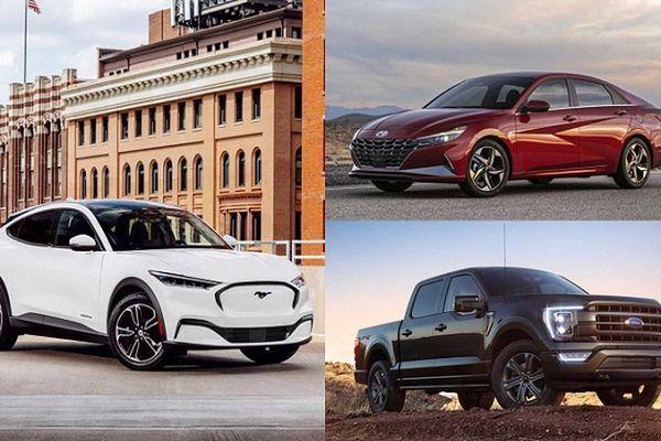 Hyundai Elantra, Ford F-150 và Mustang Mach-E là giải xe của năm