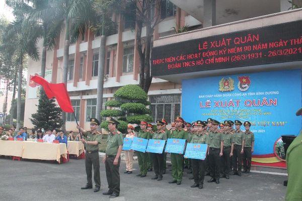 Công an Bình Dương ra quân hành động mừng 90 năm thành lập Đoàn