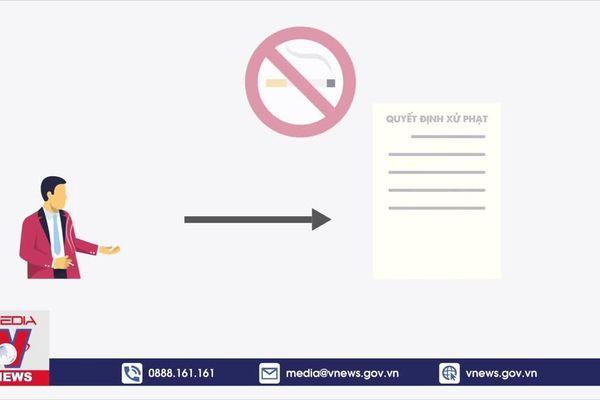 Nghiên cứu phạt nguội người hút thuốc nơi công cộng