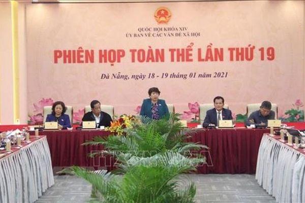 Khai mạc phiên họp toàn thể lần thứ 19 của Ủy ban Về các vấn đề xã hội của Quốc hội