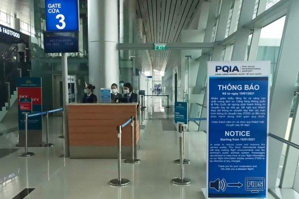 Ngừng phát thanh thông tin chuyến bay tại sân bay Phú Quốc