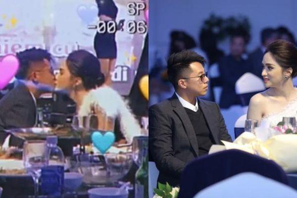 Hương Giang - Matt Liu khóa môi cực ngọt giữa sự kiện