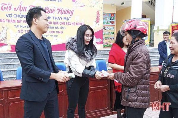 Các nhà hảo tâm trao quà Tết trị giá gần 650 triệu đồng tại Hà Tĩnh