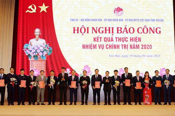 Yên Bái: Khen thưởng 57 tập thể hoàn thành xuất sắc, toàn diện nhiệm vụ năm 2020