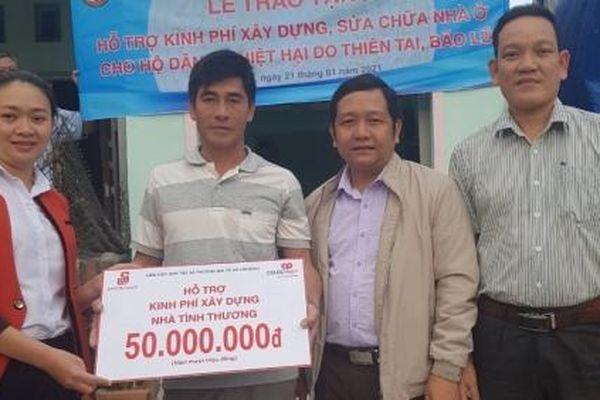 Co.opmart Quy Nhơn hỗ trợ xây dựng nhà tình thương cho 2 gia đình khó khăn