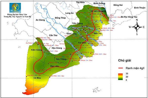 Xâm nhập mặn ở đồng bằng sông Cửu Long không nghiêm trọng như năm 2020