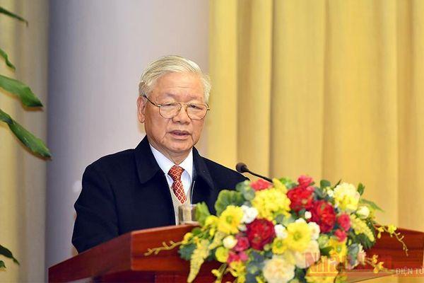 Tổng Bí thư, Chủ tịch nước Nguyễn Phú Trọng dự Hội nghị triển khai nhiệm vụ năm 2021 của Văn phòng Chủ tịch nước