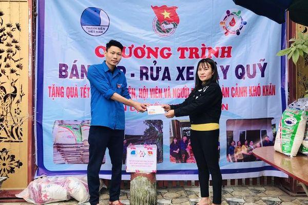 Tuổi trẻ Hà Tĩnh rửa xe, bán gạo gây quỹ hưởng ứng Tết vì người nghèo