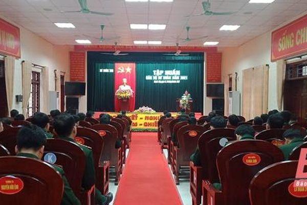 Sư đoàn 390, Quân đoàn 1 tổ chức tập huấn cán bộ năm 2021