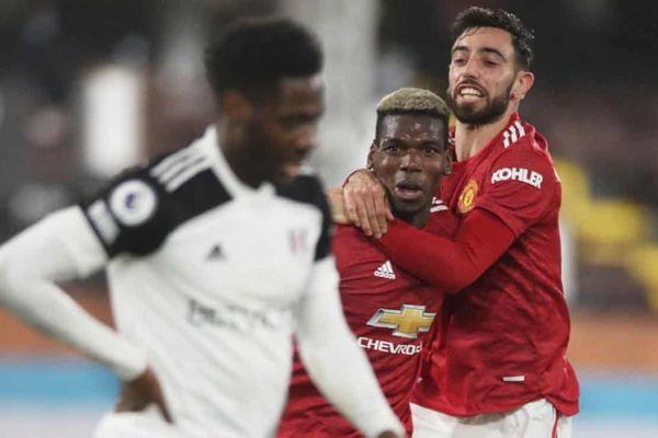 Edinson Cavani và Paul Pogba tỏa sáng, MU lội ngược dòng thắng Fulham