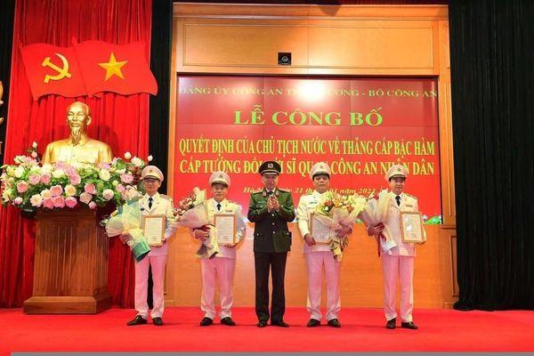 Đồng chí Nguyễn Văn Long trở thành Thiếu tướng trẻ nhất trong lực lượng công an Nhân dân
