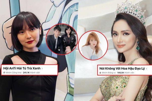 'Vượt mặt' Hương Giang 100K thành viên, Hải Tú là nghệ sĩ có group nhiều anti-fan nhất Vbiz