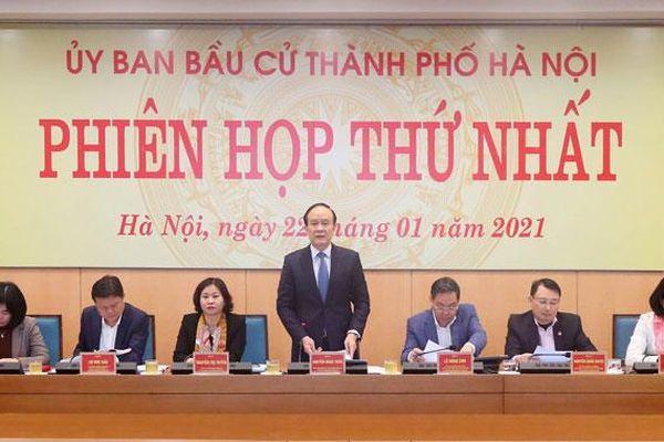 Ủy ban Bầu cử thành phố Hà Nội tổ chức phiên họp lần thứ nhất