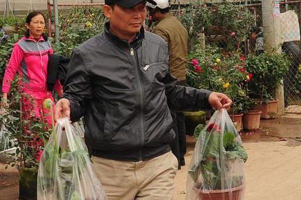 Dân Hà Nội rủ nhau sang vựa hoa Xuân Quan chọn cây chơi tết